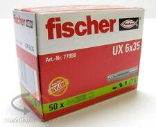 2 x FISCHER Dübel 77888 Universaldübel UX 6x35 VPE = 50 Stück - NEU