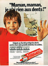 PUBLICITE ADVERTISING  1973   COLGATE   dentifrice