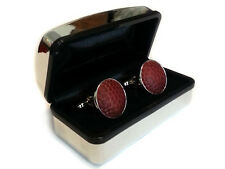 Real Football Cufflinks with Gift Box - Cuff Links Made From a Real Football
