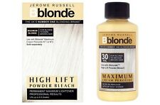 DUO Jerome Russell Bblonde High Lift POWDER Bleach + Cream Peroxide 30v9%