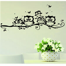 Home Decor Removable Art Vinyl Decal Owl Cartoon Wall Sticker Nursery Room