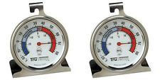 2 Pack Taylor 3507 TruTemp Refrigerator  Freezer Dial Type Stainless Thermometer