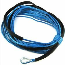 "75' X 1/4"" Dyneema Synthetic Winch Cable Rope for ATV/UTV 5000 6000LBS Offroad"