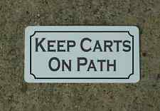 KEEP CARTS ON PATH Metal Sign Classic Vintage Style Golf Course or Country Club