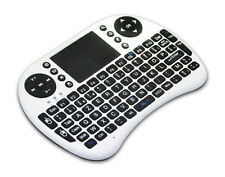 Mini Wireless Keyboard 2.4G W/ Touchpad Handheld for PC Android TV Black & White