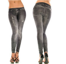Women New Sexy Black Gray Jeans Skinny Jeggings Stretchy Slim Leggings Pants