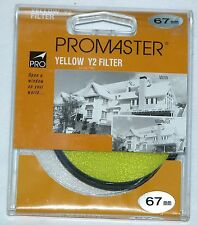 Pro 67mm Y2 Yellow Lens Filter B&W Color Film Digital Circular Promaster