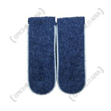 German Luftwaffe Blue Shoulder Boards White PIPED - WW2 Repro Epaulettes