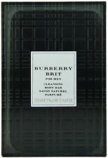 (21,98EUR/100G) 250G BURBERRY BRIT - FOR MEN CLEANSING BODY BAR SOAP / SAVON NEU