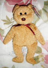1996 TY CURLY Retired Beanie Baby Bear with Hang Tag and Tag Protector