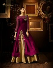 designer stylish taffeta silk party wear anarkali salwar kameez lehenga choli