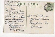 Mr W Chapman Zetland Arms Brompton Road London 1909 282a