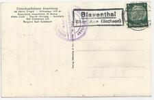 Deutschland 1939: Ansichtskarte vom 28.3.1939 Poststelle 2 Blauethal über Aue