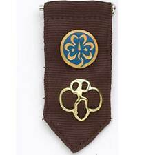 Brownie Insignia Tab w/ World Association Pin and Membership Pin Girl Scouts