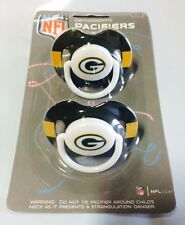 Green Bay Packers Baby Infant Pacifiers NEW - 2 Pack   GREAT SHOWER GIFT!