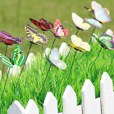 10pcs Butterfly On Sticks Popular Art Garden Pot Vase Lawn Craft Decoration Hot