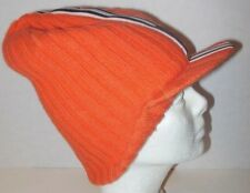 DOLCE & GABBANA MEN'S OR WOMEN'S ORANGE BLACK & WHITE BEANIE VISOR MADE IN ITALY