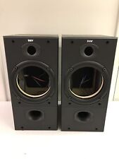 B&W (Bowers & Wilkins) DM602 S2 SPEAKER CABINETS WITH GRILLS AND CROSSOVERS