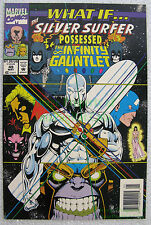 What If #49 NEWSSTAND Variant Silver Surfer Infinity Gauntlet THANOS BIG PICS!