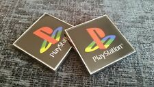 2 NUOVE 3d PLAYSTATION ps1 ps2, ps3, ps4 Chrome Logo Decalcomania Sticker no console di gioco