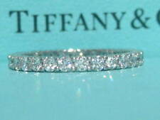 TIFFANY & CO. PLATINUM 2.2MM SHARED SETTING FULL CIRCLE .86 DIAMOND WEDDING RING