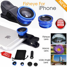 3 in 1 New Fisheye Lens Wide Angle Macro Clip On Camera Lens Zoom for iPhone 6