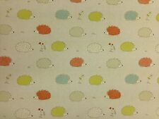Hedgehog Duckegg CottonCurtain Fabric-137 cm wide - 3.5 metre roll