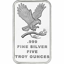 SilverTowne Trademark Eagle 5oz .999 Fine Silver Bar