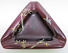 Vintage Maruni Lacquerware Triangular Ash Tray -  Made in Occupied Japan