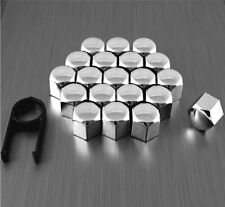 20 17mm CHROME ALLOY CAR WHEEL NUT BOLT COVERS CAPS UNIVERSAL SET FOR SMART