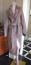 Butterfly Matthew Williamson Designers Debenham Long Fawn Beige Real Suede Coat