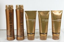 Brazilian Blowout 5 Pack Anti Frizz Shampoo, Conditioner, Masque, Balm & Serum
