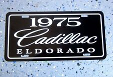 Black 1975 Cadillac ELDORADO license plate tag 75 Edition Caddy Eldo convertible