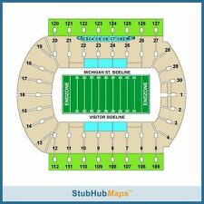 2 Michigan State Spartans Football vs BYU Cougars Tickets 10/08/16!