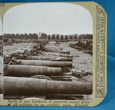 """WW1 Stereoview 11"""" Shells Abandoned During German Army Flight Realistic Travel"""