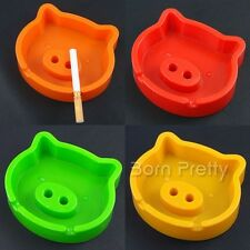 1Pc Candy Color Simple Lovely Pig Ashtray Ash Bin Tobacco Jar (Random Color)
