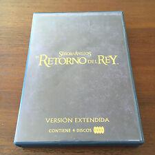 SEÑOR DE LOS ANILLOS.EL RETORNO DEL REY.EDICION EXTENDIDA + EXTRAS 4DVD - 240MIN