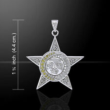 Celestial Trinity Triquetra Pentacle .925 Sterling Silver Pendant Peter Stone