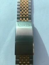 New Old Stock Oris Stainless Steel Watch Band 21-17mm 18mm End Catch Two Tone