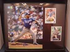 Kelvin Herrera Autograph certified plaque 11 x 14 with 2 cards KC Royals