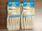 """FENDER LINES 3/8"""" X 6FT EYE SPLICE GOLD WHITE 4 PAC 40991 MARINE BOAT PARTS"""