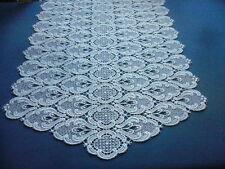 Tischläufer Mitteldecke weiß pure Plauener Spitze 53 x110 cm oval Polyester Deko