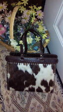 Vintage Jamin Puech Pony hair/Leather Handbag/ Small Tote Made in France