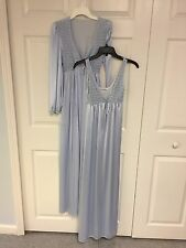 Vintage 2-PC: Robe & Nightgown JCPenny, Baby Blue