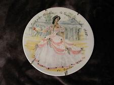 D'Arceau-Limoges Les Femmes Du Siecle-1865 Scarlet en Crimoline Porcelain Plate