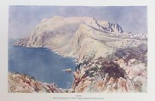 Stampa antica CAPRI BAIA NAPOLI ITALIA c1906 visualizza Antico Colore Stampato