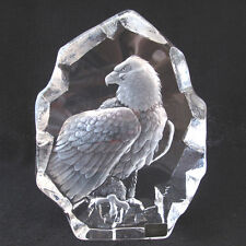 Crystal Art Glass Eagle Mats Jonasson Signature Collection Sweden signed