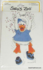 SUZY'S SPAFFORD ZOO DUCK Party Supplies INVITATIONS Birthday Decoration Invite *
