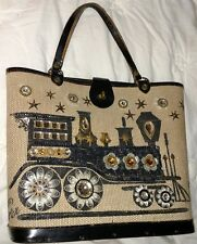 Enid Collins IRON HORSE Box Purse IRON HORSE jeweled Train vintage