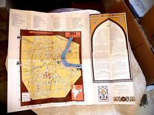 VINTAGE LOVELY ILLUSTRATED MAP OF AGRA INDIA WITH PETROL PUMPS LOCATIONS 1962